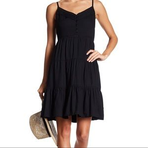 NWT Dex lace up black dress or cover up